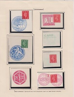 Stamps Ceskoslovakian forces in exile England military postmarks WW2 labels etc