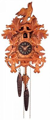 Quality Hand-carved, Traditional German Cuckoo Clock with Light Finish 17-10L