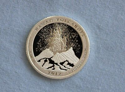 2012-S Hawaii Volcanoes Silver Proof State Parks ATB Quarter Ultra Deep Cameo