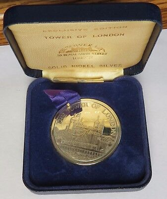 Britain 1980 Tower of London Solid Nickel Silver Medal Coin, Exclusive (091823S)