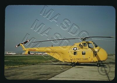 35mm RED Kodachrome Helicopter Slide - HO4S-3 Horse - Coast Guard # 1326 in 1958