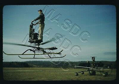 35mm Kodachrome Helicopter Slide - de Lackner HZ-1 Aerocycle NS44 in Late 1950s