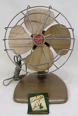 Vtg Appliance Electric Fan Super Lectric Sweet Sue w Tag 1950s