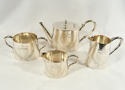 1890 Canada 13th Battalion SOLID SILVER Tea Set Royal Hamilton Light Infantry