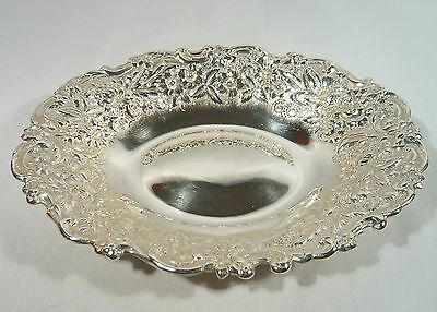 Antique 1894  American JACOBI & JENKINS  STERLING SILVER Repousse BOWL Dish