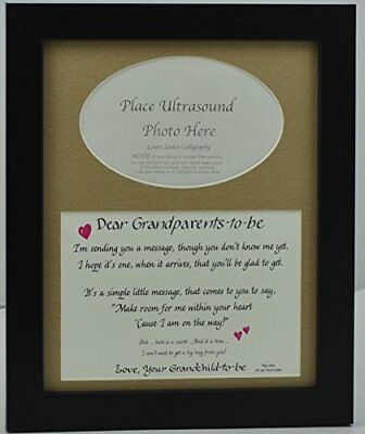 OpenBox Grandparents to Be Ultrasound Picture Frame 8x10 Sonogram Gift, Choose Y