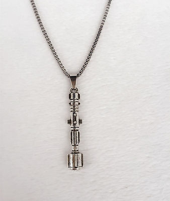 Antique silver Doctor Who Sonic Screwdriver necklace handmade #1