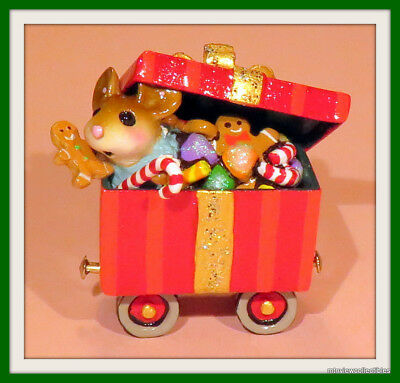 Wee Forest Folk M-453g Christmas Candy Box Car-Limited until Jan.2016-Retired