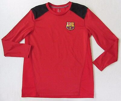 09ff6f143 FCB Barcelona Spain Soccer Futbol Men s Polyester L S Red Jersey T Shirt -  Small