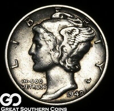 1942/1 Mercury Dime, Highly Demanded Key Date Mint ERROR ** Free Shipping!