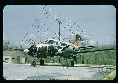 35mm Generic Aircraft Slide - L-23 Seminole 62-3866 @ Ft Sheridan, IL - May 1969