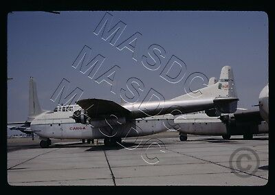 35mm Kodachrome Aircraft Slide - MEXICANA C-82 Packet XA-LOJ @ LGB - 15 Apr 1971