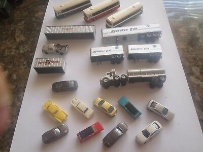 Model Trains N Scale Cars Bus's Trailers , Ect