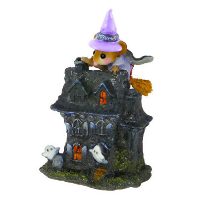 WEE WITCHY'S HAUNT by Wee Forest Folk, TM-7 Halloween Haunted House Mouse