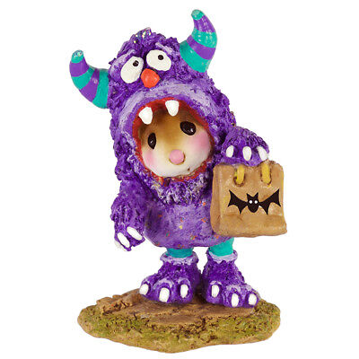 SCAREDY MONSTER by Wee Forest Folk, WFF# M-589, Halloween Mouse