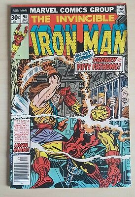 The Invincible Iron Man #94 VF+ Bronze Age Comic Uncurculated