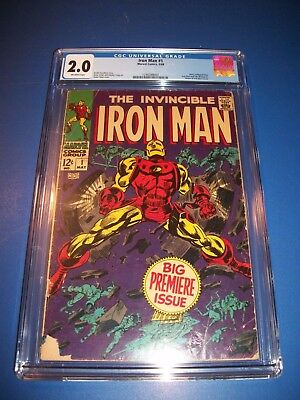 Iron Man #1 Silver Age 1st Issue Huge Key Wow CGC 2.0 Historic Issue