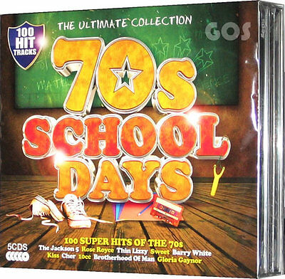 The Ultimate Seventies School Days Reunion 5 CD 1970s Original Music Recordings