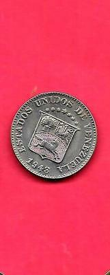 VENEZUELA Y69a 1948 UNC-UNCIRCULATED MINT OLD VINTAGE 5 CENTIMOS COIN