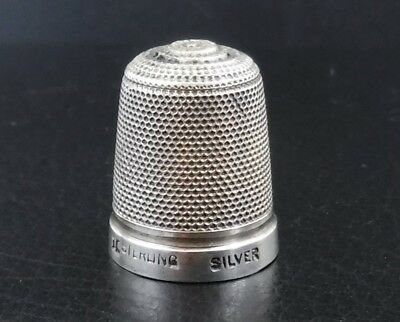 Vintage Thimble marked '15 Sterling Silver' : 2.3g