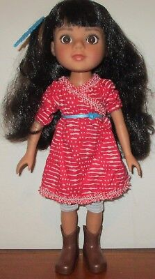 """Hearts For Hearts Doll Mosi Native American Girl Doll 14"""" Retired Hard To Find"""