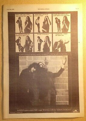 "JOHN OTWAY ""Deep & Meaningless"" Original 1978 NME Trade/Press Advert Poster"