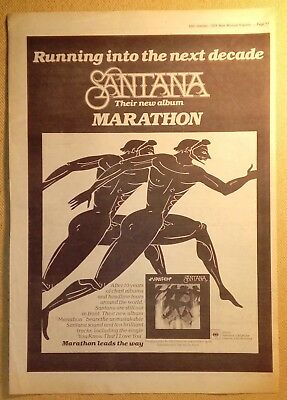 "SANTANA ""Marathon"" Original 1979  NME Trade/Press Advert Poster PAGE"