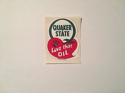 1970 Vintage Quaker State Love That Oil Sticker Decal Nos Mint