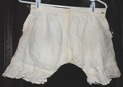 Antique Victorian 1800s White Dress Ruffle Children's Girls Pantaloons Bloomers