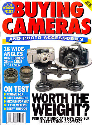 Buying Cameras magazine April 1995 , with Pentax Z-1P & 18  28mm  lenses tested