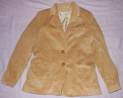 Classic Fashions Mens Tan Corduroy Sports Coat Suit Jacket 6 Short Vintage Retro