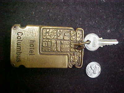 Antique Brass Key Fob for THE COLUMBUS HOTEL  Room 440