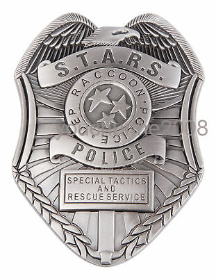 Resident Evil Biohazard S.t.a.r.s. Stars Raccoon Police Dep Badge Silver - 38057