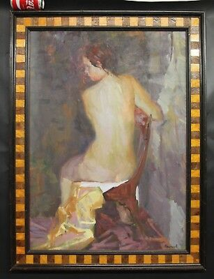 Russian Impressionist Oil Painting Portrait Beautiful Woman by XpanayeB 1960's