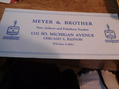 old Blotter for Meyer and Brother of Chicago