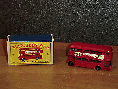 """MATCHBOX - AUTO IN OVP """" ROUTEMASTER """" Nr.5,A LESNEY PRODUCT"""