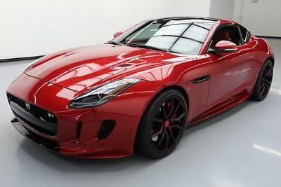 2016 Jaguar F-Type R Coupe 2-Door 2016 JAGUAR F-TYPE R AWD SUPERCHARGED SUNROOF NAV 8K  #K22744 Texas Direct Auto