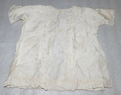 Baby Doll Sleeveless Creamy White Butterfly Floral Vest Decorative Sheer Vintage