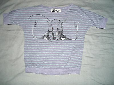 tee shirt occasion coton occasion fille dumbo  taille 18 mois