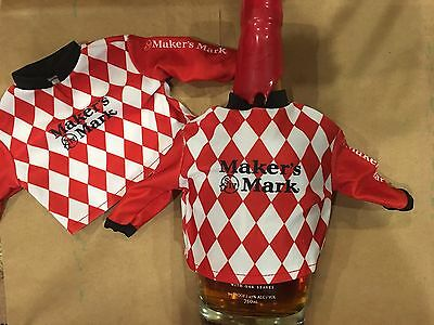 Makers Mark Bottle Jockey Shirts. Set Of Two  Shirts. (no Bottle) New