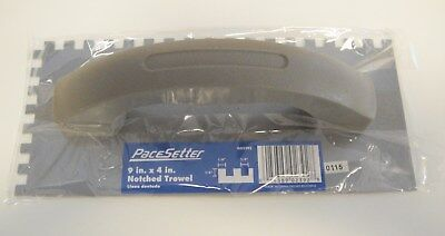 "PaceSetter 9"" x 4"" Notched Trowel - 1/4"" X 1/4"" - GO2392 - *NEW*"