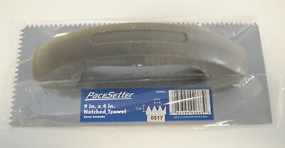 "PaceSetter 9"" x 4"" Notched Trowel - 3/16"" X 5/32"" -l GO2663 - *NEW*"