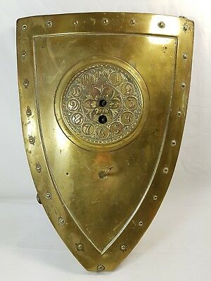 Circa 1890 Brass Shield Clock JAPY FRERES Movement Arts & Crafts for Restoration
