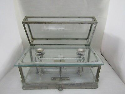 Vintage Metal & Glass Pharmacy Scale by Torsion Balance Company N. Y. Style 285