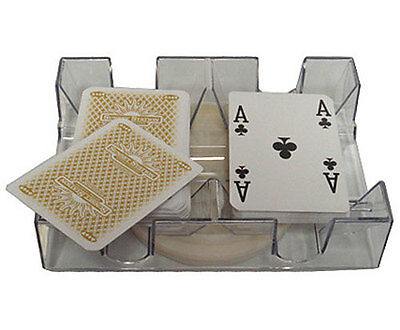 2 DECK REVOLVING CANASTA POKER CARD TRAY DISCARD TRAY Hand And Foot Game *