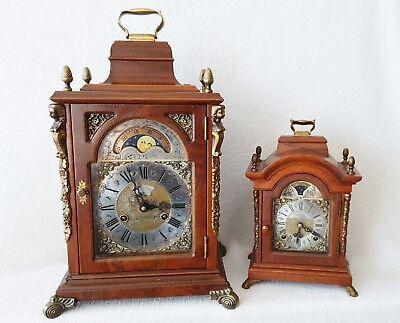 Mantel Clock Big Warmink Vintage Bracket Shelf Nut Wood Silent Option Moon Dial