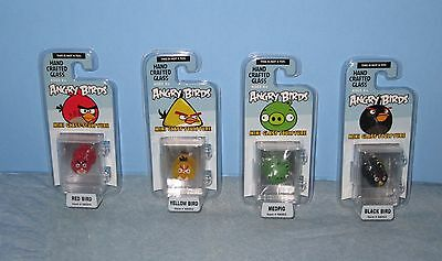 Angry Birds Hand Crafted Glass Mini Glass Sculptures Set of 4 NIP ages 8+