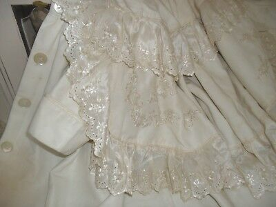 Superb Quality, Antique Silk  Victorian  Embroidered Coat And Cape