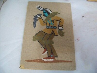 "Artist Signed Navajo Sand Art Painting Yei Clown, 6"" x 4"" Free Shipping S3"