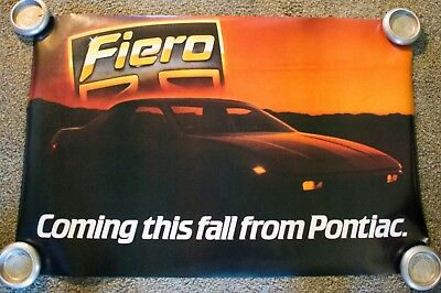 1983 Pontiac Fiero Introduction Poster